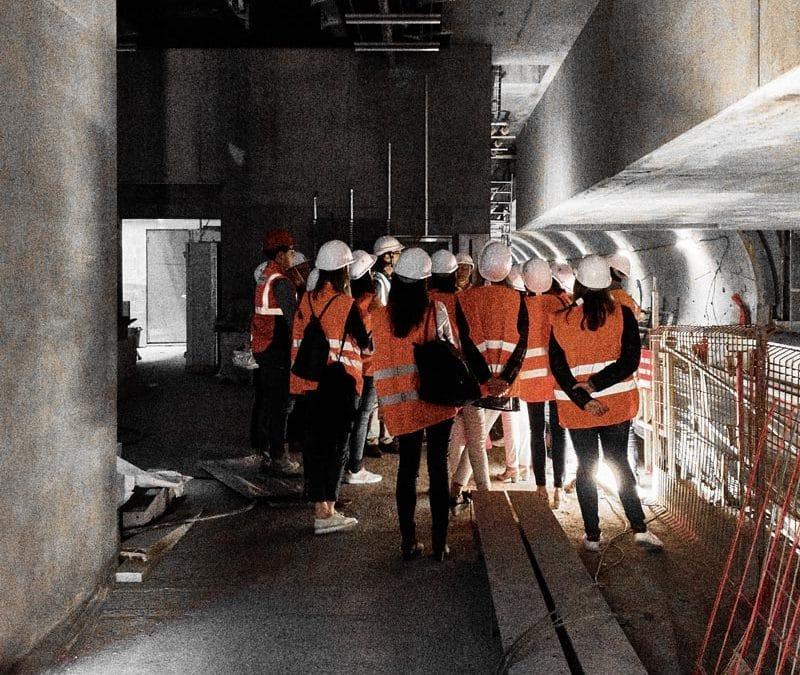 Visite chantier Métro CBC35