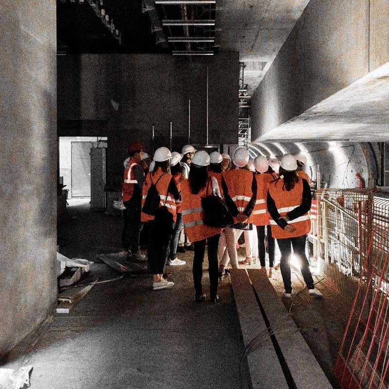 Chantier du métro à Rennes avec Club CBC35-1