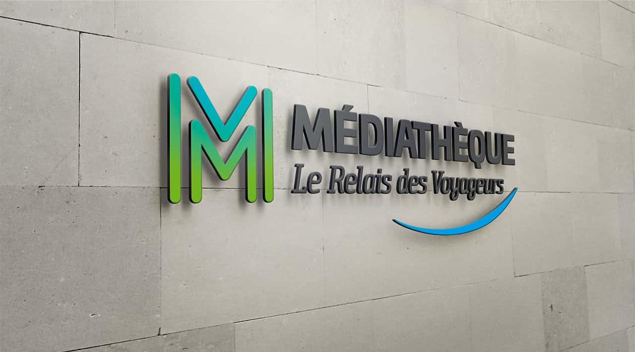 Médiathèque Saint-Méloir des Ondes  - Mur
