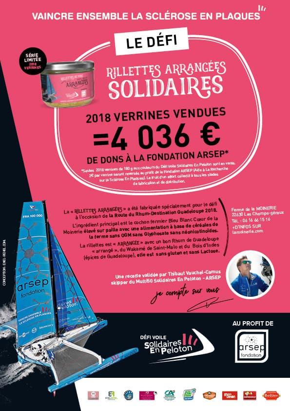 Affiche Route du Rhum 2018 Lamoinerie Défi Voile Solidaires En Peloton