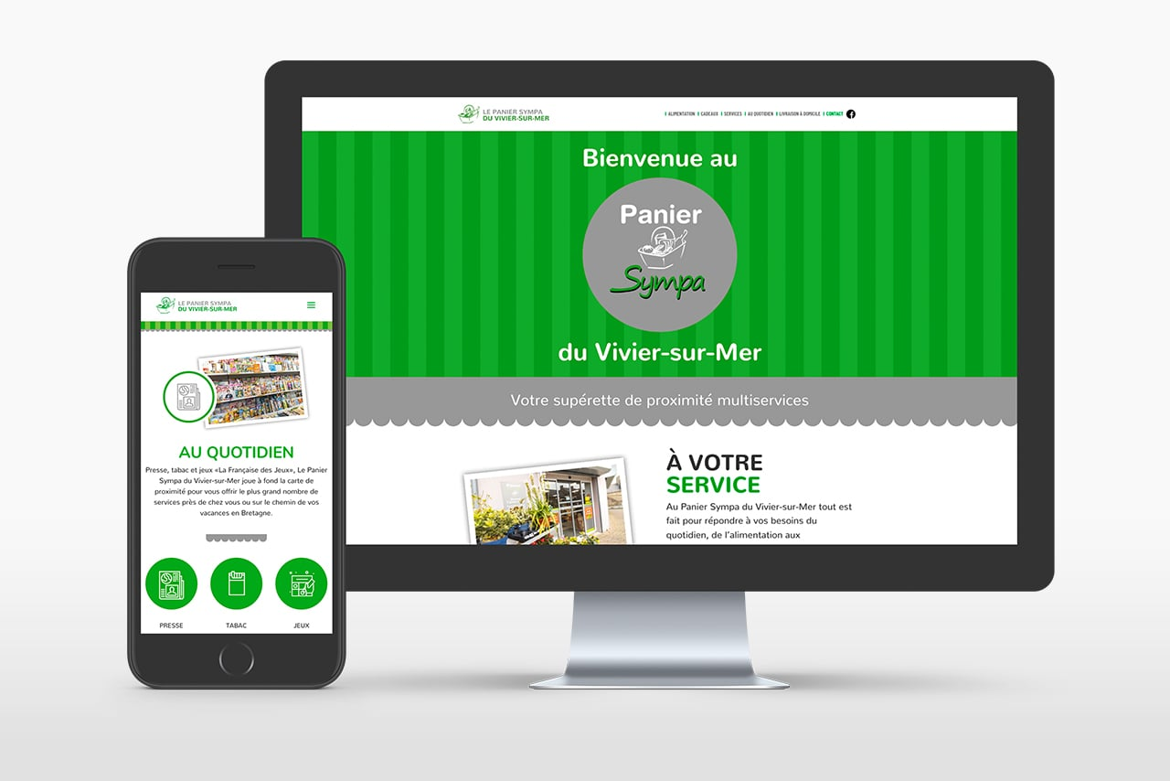 Site Web Supérette du Vivier-sur-Mer